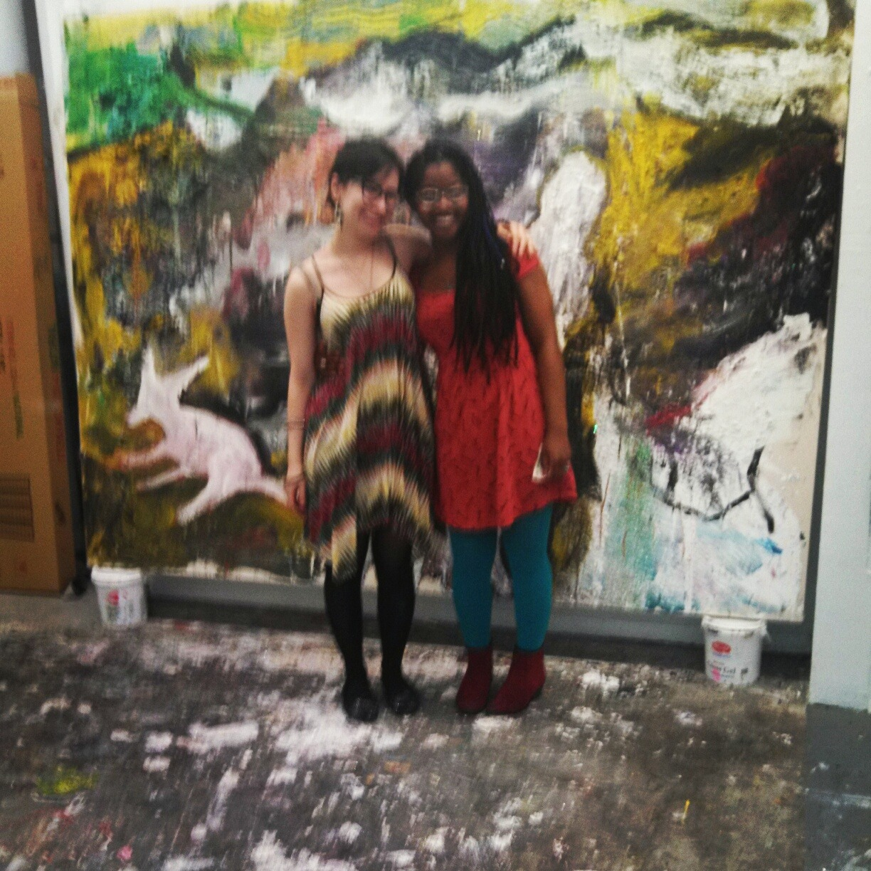 Me and my friend Milanya at my studio!