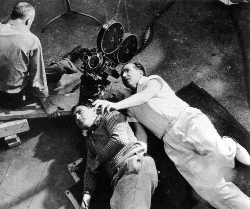 Cinematographer Leon Shamroy and director Fritz Lang work out an unusual angle for a scene ofYou Only Live Once.
