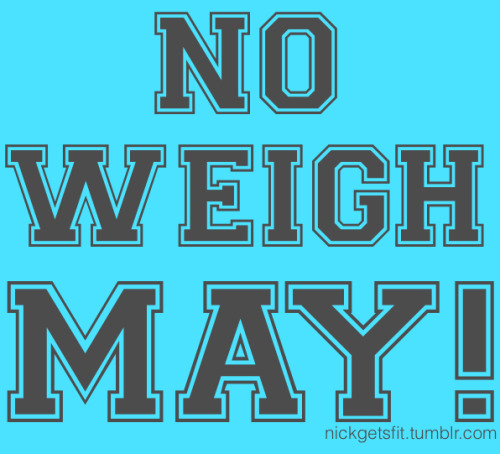 tiny-vessels:  nicoleeatsclean:  Weigh yourself on May 1st and then put the scale away until June 1st.  It's a month long challenge to help distance yourself from the weight aspect of getting healthy and to help you focus on other measurements of success…  It's hard, but totally worth it. You in?  interesting challenge.
