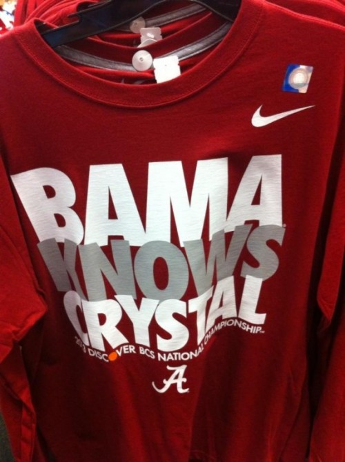 2013 BCS National Championship shirt - Bama Knows Crystal [Photo]