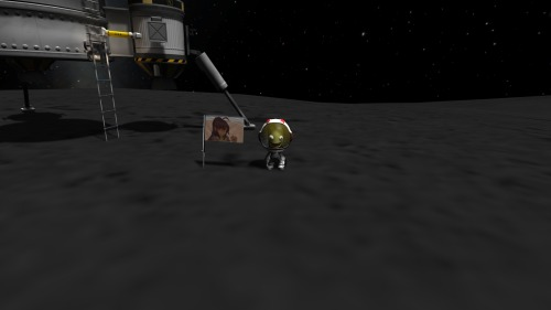 And the Cyron flag is on the Mun.    …Welp, that was an entertaining 30 minutes. Time to wait for 0.21.