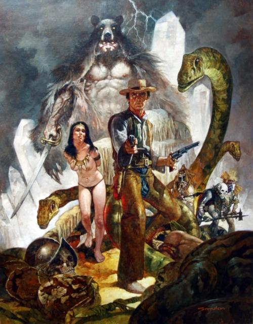 kgthunder:  'Fantasy Western' Artist: Manuel Sanjulián If you don't think this is fucking cool then unfollow my blog immediately.