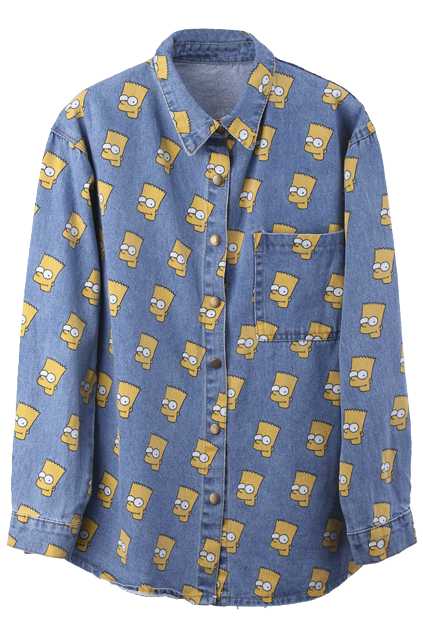 "fashionpassionates:  *NEW Bart Simpson Shirt: BART SIMPSON SHIRT Shop FP | Fashion Passionates ""get your fashion fix with fashion passionates!"""
