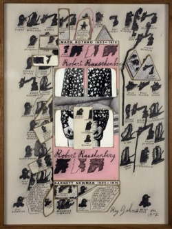 Ray Johnson. Robert Rauschenberg, 1972  Collage on illustration board 52 x 39 cm Private collection, Paris. Raven Row London.