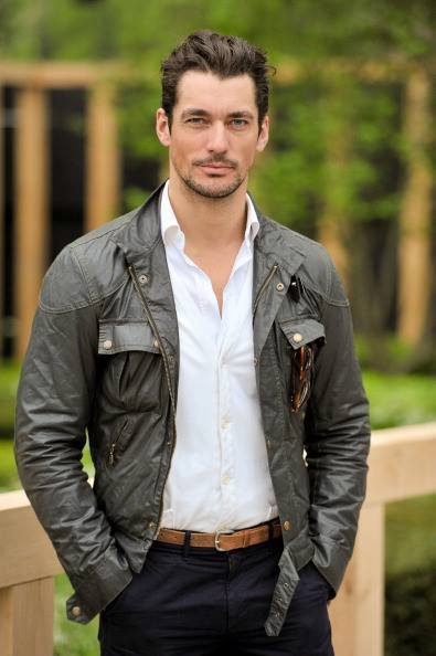 David Gandy's casual style, at the Chelsea Flower Show @The_RHS