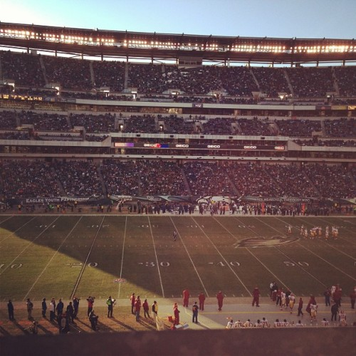 Andy's last home quarter 😢 (at Lincoln Financial Field)