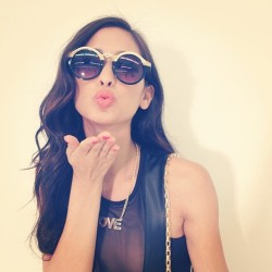 melodyyoko:  TGIF!! Sending you some love from the set!!! Xx 💋 (at Forever 21 HQ)