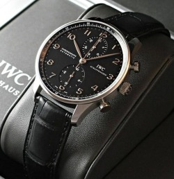 suitboss:  IWC chronograph…More suit inspiration right here….