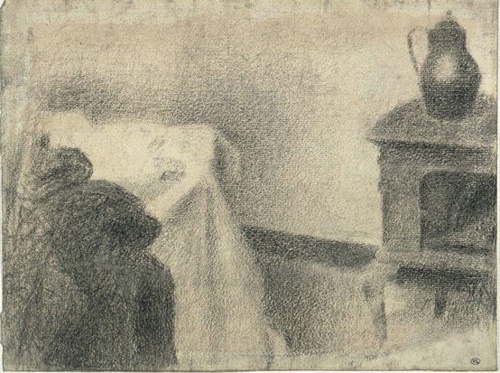 Part of the Studio, 1887 (queue) Georges Seurat