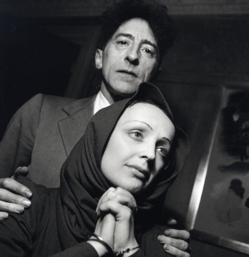 Jean Cocteau & Édith Piaf, ca. 1940. Photo by Serge Lido.