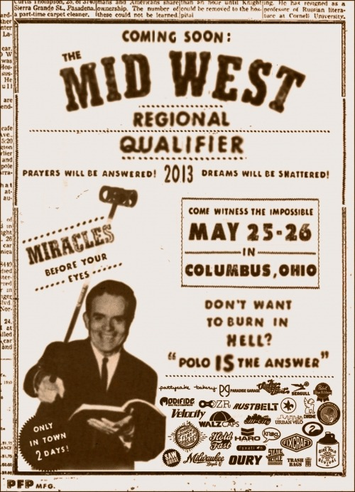 this weekend! midwest bike polo championships!