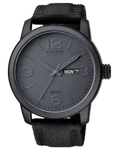 wantering:  Citizen Black Canvas Watch