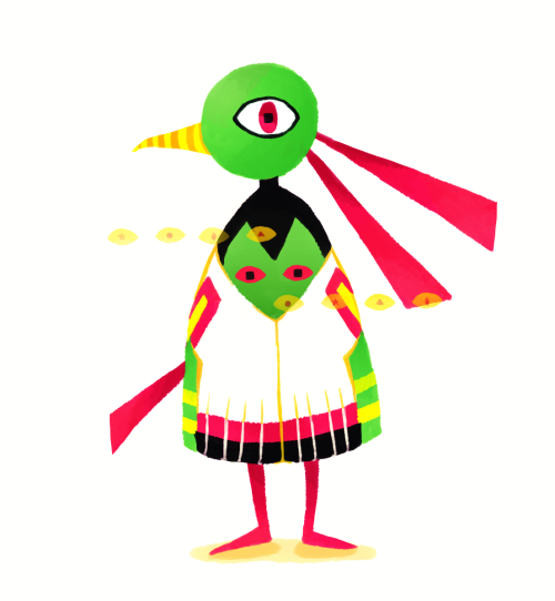 #178 Xatu Mystic Pokémon  Psychic birds! Psychic birds! Yay! Here's Xatu for the Re-Dex Initiative. Long time no Pokemon from me, eh? I started this roughly 300 years ago, but finished it today.