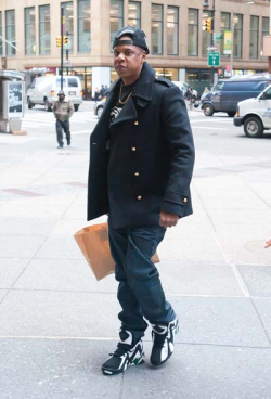 Jay-Z was back out in New York City on Friday, after spending some time away in The Bahamas celebrating Blue Ivy's first birthday.