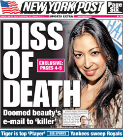 New York Post front page for Monday, May 13, 2013