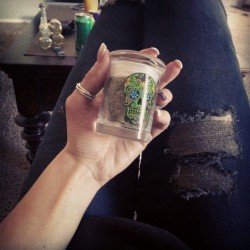My little nug jar. #marijuana #cannabis #girlswhosmoke #420babes #bubbler #weed