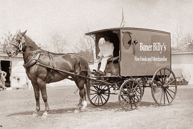 America's first mobile food truck late 1880's in California. Boner Billy's Famous Hot Dogs, est. 1849 has had many mobile food service vehicles over the years. Check out all the mobile Boner Billy vehicles.