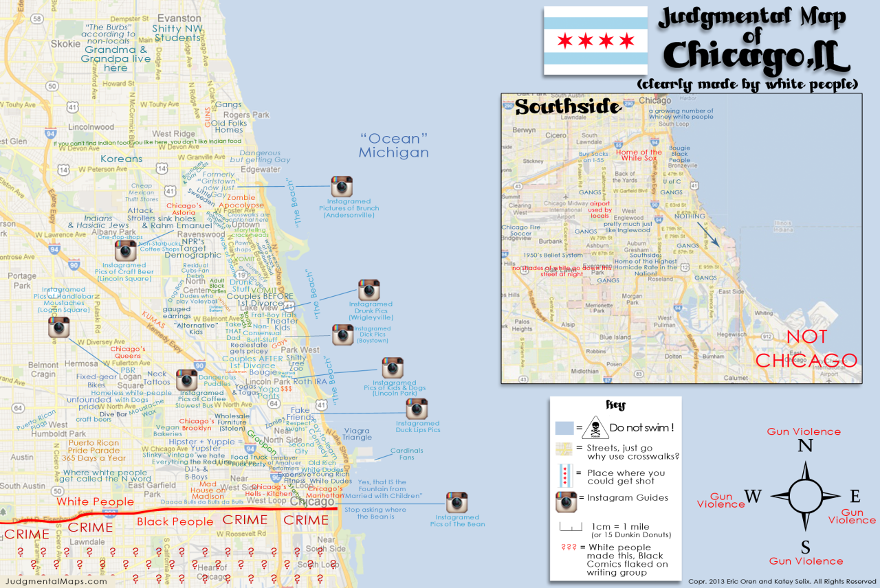 judgmentalmaps:  Chicago, ILby Eric Oren and Katey Selix Eric Oren and Katey Selix Copr. 2013. All Rights Reserved.