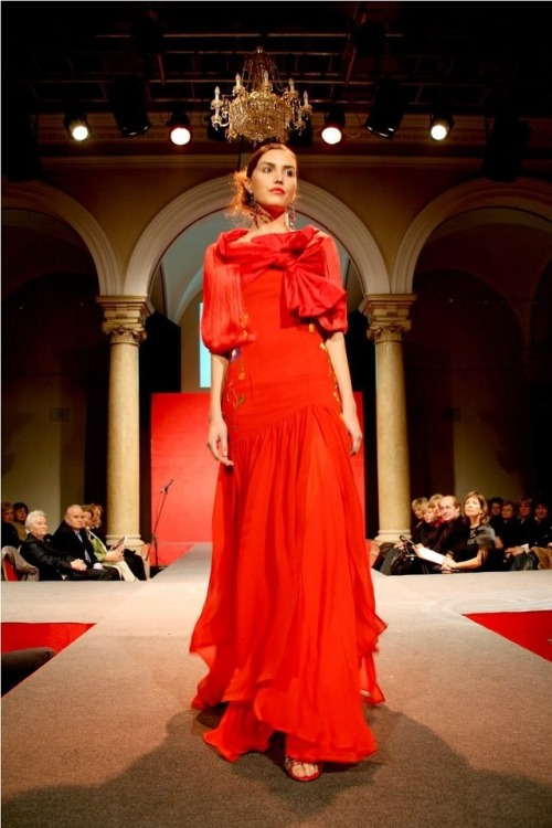 Red. Fashion design by Gordana Zucic.