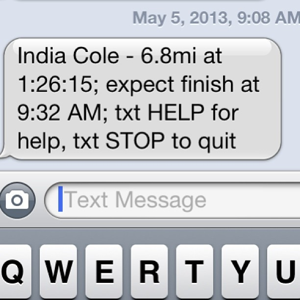 We're tracking our boo @coleil! #flyingpig #shesrunningforallofus cc: @ashb_knows @rhardydesign @mrs_joiner @jus_bn_rell @jteezyfo @uniquely_nik
