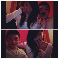 we mustache you a question, but we'll shave it for later <3 .. Christmas at the Chen's . #ootd #US #eleven