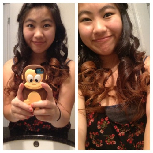 Yeah, I'm pretty awkward. Haha. #awkward #monkey #curls #braids #pandaeyes #mothersday #eatingout #asian #hungry #excited #letsgo