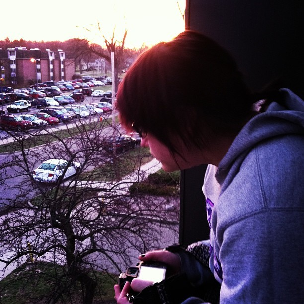 Just chilling on my balcony with @kylieeerin #early morning  (at Tau Kappa Epsilon - Omega Chapter)
