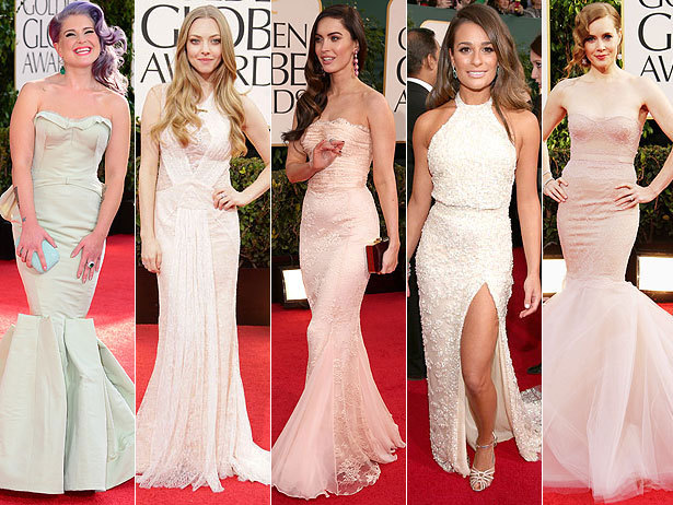Golden Globes Fashion Trend 2: Pastels.