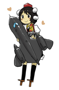 After I showed anyan the F-22 Reimu I did yesterday, he replied back with this drawing he did saying:  This is my reply. I was thinking of Alice with DC-130, but I just went with Aya and Blackbird.  Now I'm even more tempted to draw some more to add to the Touplanes(?) collection.