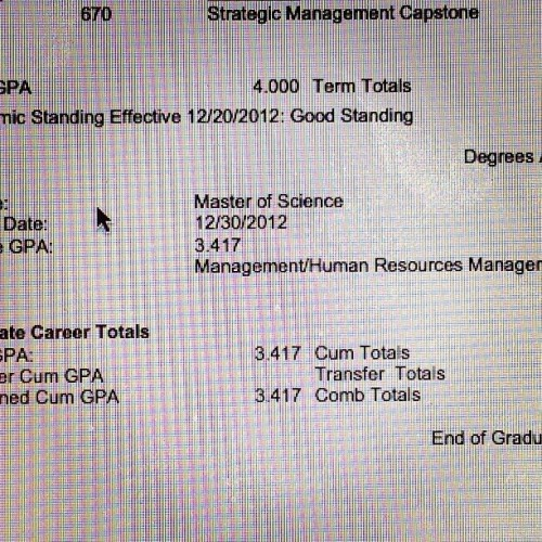 oh hey, my Masters Degree is official now. 🎉🎓☺
