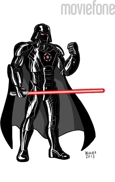 Darth Stark finds your lack of goatee disturbing… 6 Rejected Armor Designs from 'Iron Man 3'  Disney Princess, Tardis, Juggalo and more!    From Dennis Culver & Moviefone