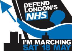 Londoners, march with us today, make your voices heard! Our world class National Health Service is being steadily starved of funding. The Government promised, not just a ring fenced NHS budget but also a year-on-year increase in spending. FOR THE LAST TWO YEARS THE NHS BUDGET HAS FALLEN IN REAL TERMS. Where is this being reported, who is being held to account?This Government's modus operandi is death by a thousand cuts. Less controversial aspects are being quietly privatised, wards and, indeed, hospitals are being closed, the work is being done piecemeal as mendacious obfuscation. Once the budget has been devastated and the service is no longer able to be shouldered by the devoted NHS staff the Lib Dems and the Tories will quite rightly be able to say that the service no longer works, of course THIS IS THEIR INTENTION and they are further down the road than you think. Don't let it happen.