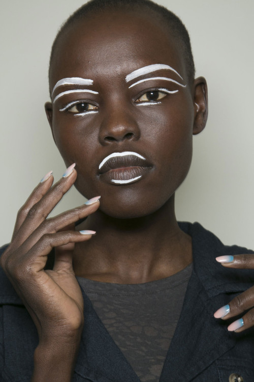 thedoppelganger:  Grace Bol, backstage at Vivienne Westwood Red Label Ready to Wear