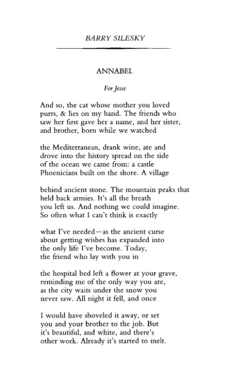 poetrysince1912:  —Barry Silesky, Poetry, April 2003Barry Silesky and Jim Ferris read at the Poetry Foundation as part of the Bodies of Work Festival on Saturday, May 18.