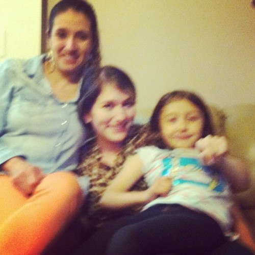 Blurry, yes. But seeing this little one, her brother and their mom was just what I needed today ♥