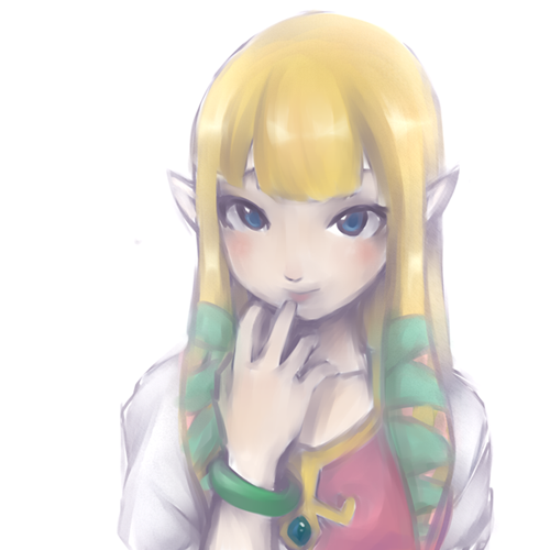 thesacredrealm:  Zelda by LittleLanturn