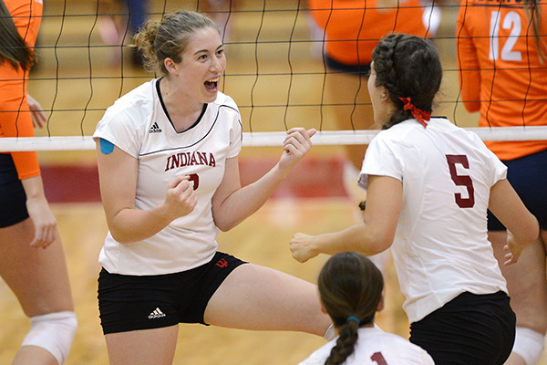 "Student-Athlete Spotlight: Acing the IU Experience with Jordan Haverly The IU Varsity Club recently sat down with Jordan Haverly, a redshirt junior and outside hitter on the IU Volleyball team. Haverly described her IU experience, both on and off the court. Q: Before committing, what did you find most attractive about IU? A: The people were one of the biggest reasons I came here. Everyone was very nice and open and you got the feeling that no one was going to let you fail. From faculty, to coaches, to academic services, everybody that we met was always willing to help. Also, the campus is gorgeous, so that's definitely a plus! Q: What was the biggest adjustment for you— coming from high school to IU?  A: The biggest adjustment was getting used to adding so many hours of volleyball into my schedule. Coming from a college prep school, academics was not the biggest adjustment for me. Managing time and projects is always hard, but volleyball and the travelling we did with it made for a pretty big adjustment. The professors, though, were always there to work one-on-one with us and were very accommodating. Q: After an incredible Sweet 16 run in the fall 2010, how did your injury (torn ACL, LCL, MCL, and meniscus) in the spring of 2011 motivate you?  A: I obviously still wanted to play and have a passion for the game. I had a lot, and still have a lot to prove. If I could've played that season, I would have. I tried really hard, but there were some complications. I just wanted to get healthy again for my teammates. One of my goals coming to IU was to leave the program better than when I got here. The support from my coaches and teammates was incredible. It was tough for me. I was going through rehab learning how to walk the right way without limping. My teammates, coaches, advisors, and trainers … everyone was always checking on me. If I even made the slightest improvement, like doing a wall-sit, it was a celebration. Everyone was really supportive during my recovery. Q: How would you describe the ""Spirit of Indiana: 24 Sports, One Team?""  A: It's exactly what it states. You spend all your time around other athletes and they become your closest friends. We all work so hard and we all get each other's lives. It's like our own little community. We're one big group and everyone does a great job of supporting each other. You see athletes at study tables, class, and other sporting events. It's like one big athletic family! They become your best friends. It's really great to have that ""family"" atmosphere. We get to know all the other sports and develop friendships; it's special. Q: As a scholarship athlete, how do you most benefit from the aid you receive from the Varsity Club?  A: I wouldn't be here if I didn't receive aid from the Varsity Club. It lifts a huge burden coming from out-of-state. It's hard to put into words what it means to know that someone was generous enough to give this gift. It allows me to focus on volleyball and academics without having to worry about graduating in debt. It's incredible how generous our donors are and the opportunities they provide to us are just amazing. Q: If you had the opportunity to meet the donors who paid for your scholarship, what would you say to them?  A: I would say thank you for everything that they've allowed me to participate in. They've paid for my education and allowed me to have the most exciting and rewarding experiences in my life. Thank you is not enough, but I will always be grateful and I will have these memories for the rest of my life. I don't know that I could ever repay them for all the memories I am able to have here. The fact that they were able to give us that is just amazing and I am so thankful. Read more about Jordan Haverly. When you join the Varsity Club, you make opportunities possible for student-athletes like Jordan. Make a gift online now or donate by text to support student-athlete scholarships."