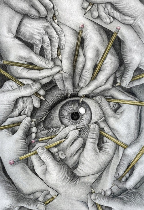 artmonia:  Drawn to See | James Lincke. Graphite on Board.
