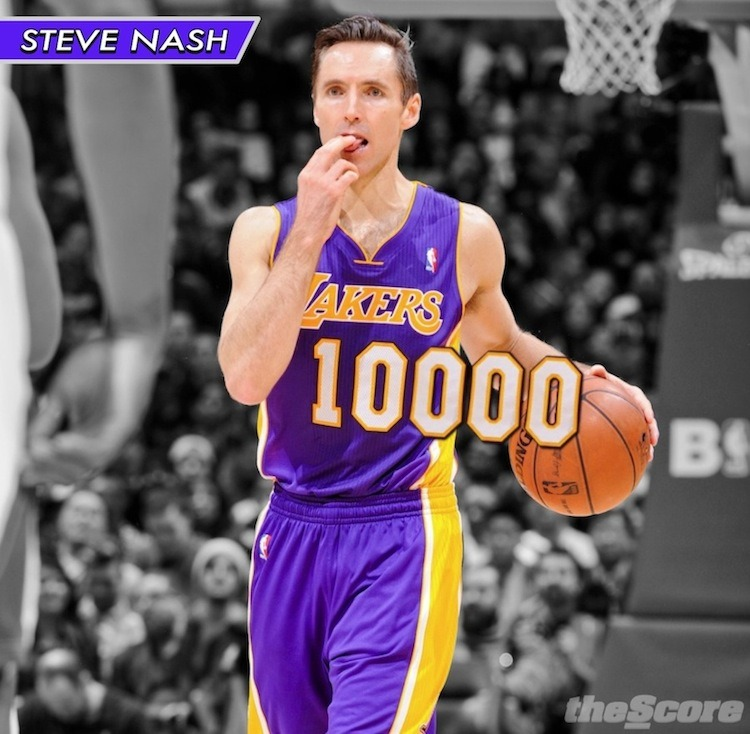 Pic: Congrats to Steve Nash for reaching #10KAssists!