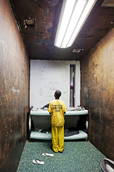 thesmithian:   Richard Ross spent visiting some 200 juvenile detention facilities in 31 states, photographing and interviewing inmates, male and female, ranging in age from 10 to their early 20s, with most in their mid-teens. Some were imprisoned for violent crimes and would eventually be transferred to adult prisons. Others were in for lesser offenses and less time, though the incidence of repeat arrests indicates that future patterns are already being set.  more.