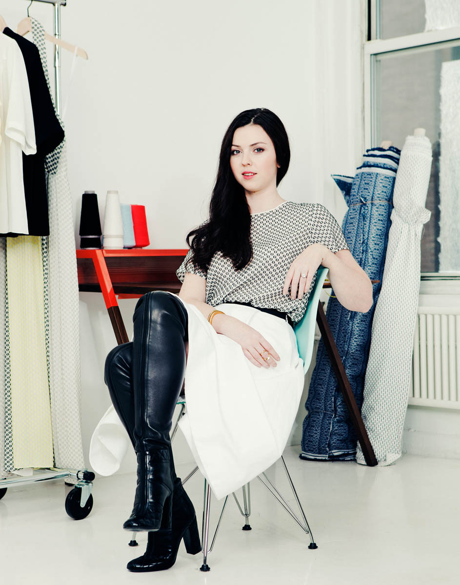 Canadian designer Tanya Taylor for Report on Business. Shot October, 2012.