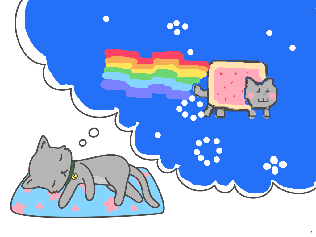 Started Playing DrawQuest Decided To Do A Nyan Cat! http://drawquest.com/p/vvdru?s=2rftj