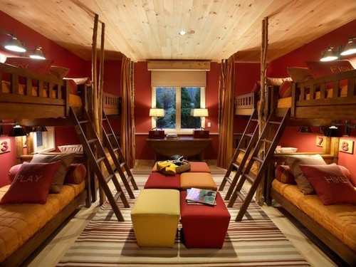 welcome-home-darling:  fabulous bunk bed style.  I want this room
