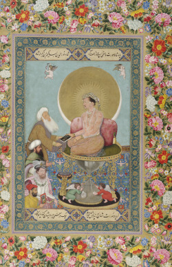 bollyhollymusical-itis:  Jahangir Preferring a Sufi Shaikh to Kings, St. Petersburg Album, 1615-18.