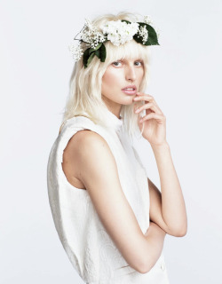 "stormtrooperfashion:  Karolina Kurkova in ""Dreaming Of Karolina"" by Nino Munoz for Numero Tokyo #67, June 2013"