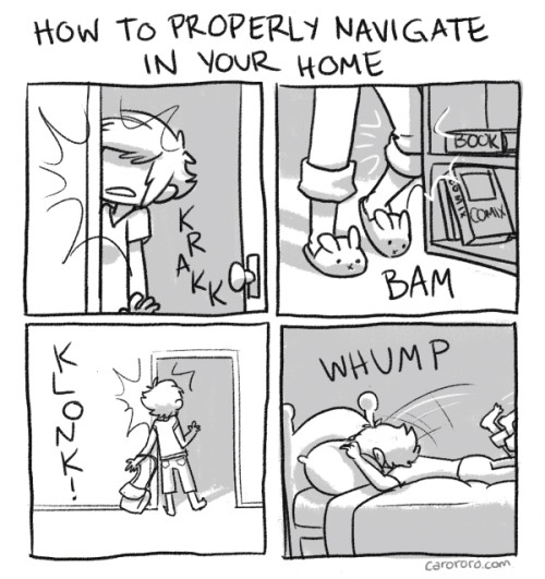 thefrogman:  How to Properly Navigate in Your Home by Caro Ramsey [website | twitter]