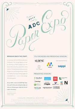 Woo! The invite I made for ADC Paper Expo is out!