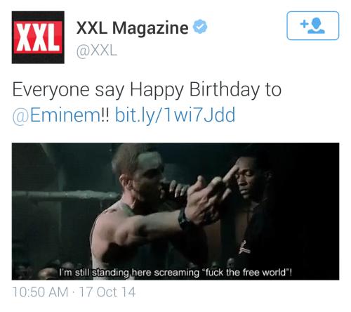 theeminemshow:  People wishing Eminem happy birthday.