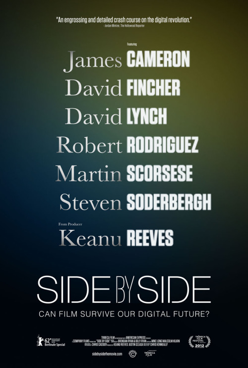 "Side By Side is a documentary hosted by Keanu Reeves featuring dozens of directors, producers, cinematographers and film enthusiasts discussing the impact of digital filmmaking and the future of film in our digital lives. The positions of these filmmakers varied greatly between for and against digital filmmaking and actually promoted positive discussion from some of the most creative individuals creating media. I was drawn into the discussion and appreciated the viewpoints on both ends. I've always been partial to film grain - there's something to be said about the authenticity of something that appears to have been record on ""film"". It's grainy and realistic and reminds you that you are watching a film. Digital has its obvious benefits - most importantly the lift on restrictions and limitations of film, but there's something that can be waxy and disingenuous. Needless the say, the discussion has to take place as filmmakers figure out what the future of their medium will hold. There are great discussions in the feature and Keanu does an excellent job moderating the discussions. I'd really like to see some more of some of the interviews (specifically of David Lynch, who referred to Keanu by his first name which was awesome).  Side By Side is available to stream on Netflix Canada right now or can be ordered on Amazon.ca:Side By Side - DVDSide by Side (Blu-Ray)"