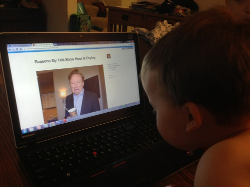 reasonsmysoniscrying:  Conan O'Brien ripped him off!